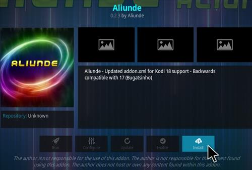 How To Install Aliunde Kodi Addon Step 19