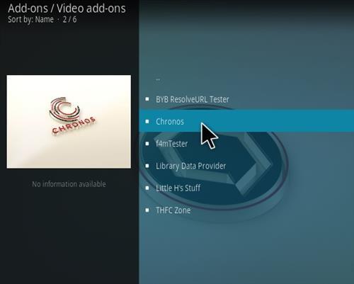 How To Install Chronos Kodi IPTV Addon New V71 Step 17