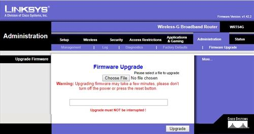 How To Install DDWRT to a Linksys wrt54G Firmware