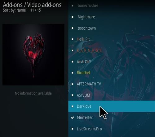 How To Install Dark Love Kodi Addon Step 17