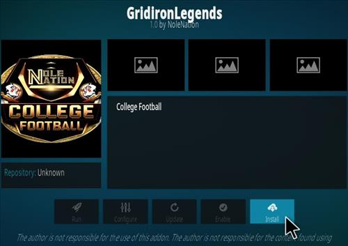 How To Install Grid Iron Legends Kodi Addon Step 18