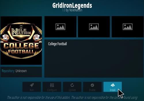 How To Install Grid Iron Legends Kodi Addon Step 18