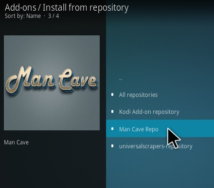 How To Install Man Cave Entertainment Kodi Addon Step 16