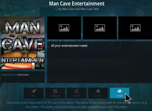 How To Install Man Cave Entertainment Kodi Addon Step 19