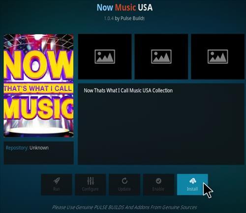 How To Install Now Music USA Kodi Addon Step 18
