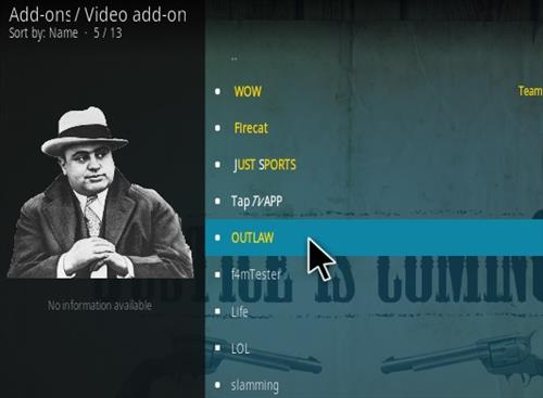 How To Install Outlaw Kodi Addon Step 17
