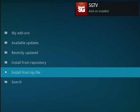 How To Install SGTV Kodi Addon Step 13