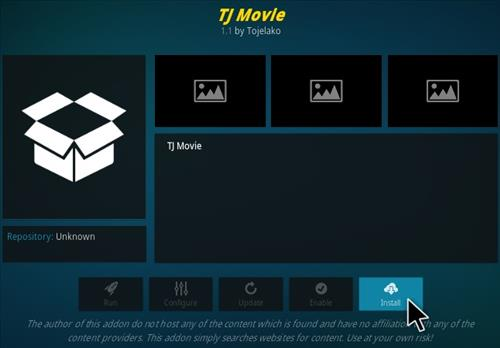 How To Install TJ Movies Kodi Addon Step 19