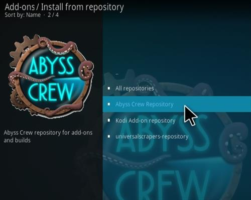 How to Install Abyss Kodi Addon Step 15