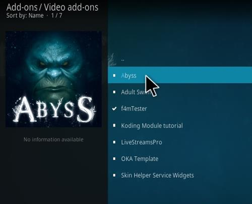 How to Install Abyss Kodi Addon Step 17