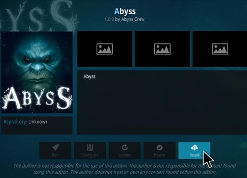 How to Install Abyss Kodi Addon Step 18