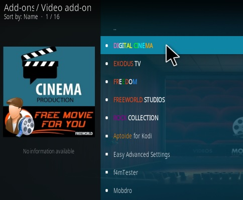 How to Install Digital Cinema Kodi Addon Step 17