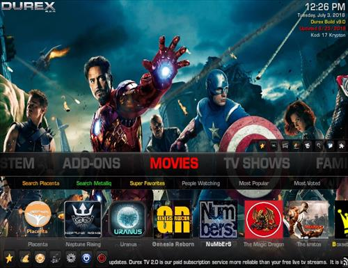 How to Install Durex Kodi Build Screenshot 1