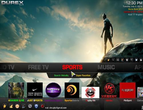 How to Install Durex Kodi Build Screenshot 4