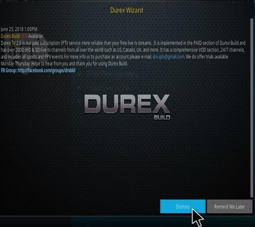 How to Install Durex Kodi Build Step 14