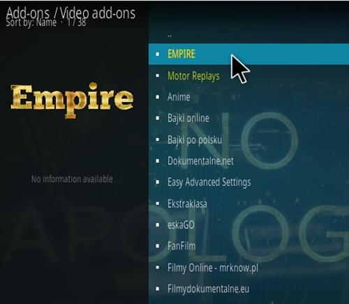How to Install Empire Kodi Addon Step 17