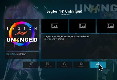 How to Install Legion'N' Unhinged Kodi Add-on 19