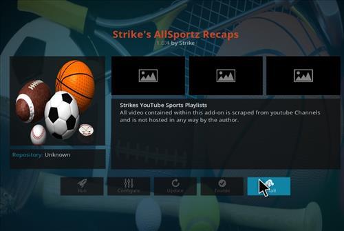 How to Install Strike's AllSportz Recaps Kodi Add-on 18