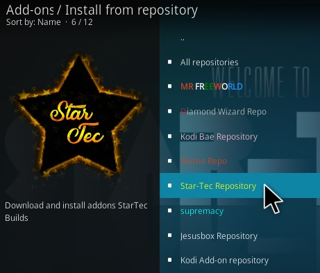 Steps To Install Star Tec Kodi Addon New V130 Step 16