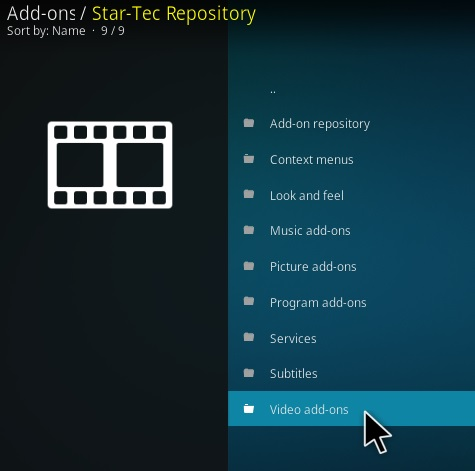 Steps To Install Star Tec Kodi Addon New V130 Step 17
