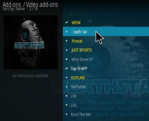 How To Install Deathstar Kodi Addon Step 19