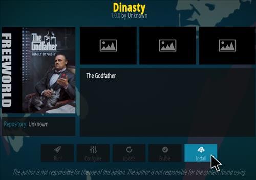 How To Install Dinasty Kodi Addon Step 18
