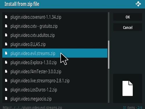 How To Install Evil Streams Kodi Addon Step 13