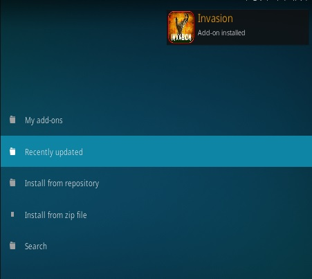 How To Install INVASION Kodi Addon Step 13