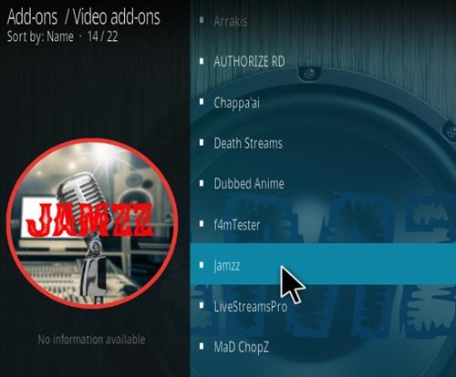 How To Install Jamzz Kodi Music Addon Step 17