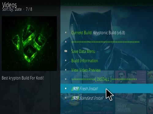 How To Install KRYPTONIC Kodi Build Step 17