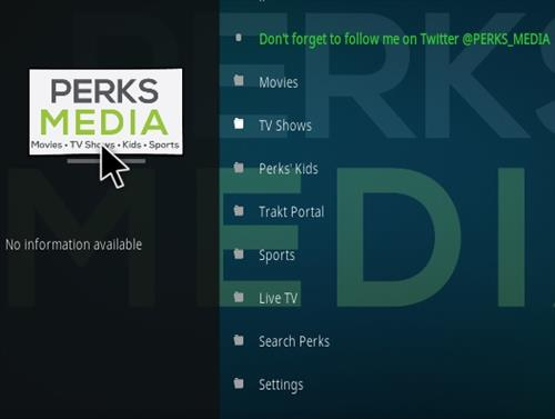 How To Install Perks Media Kodi Addon New URL Overview