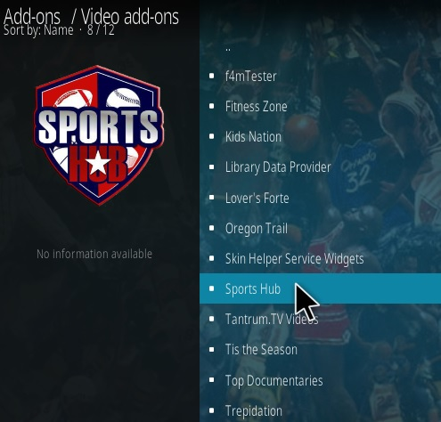 How To Install Sports Hub Kodi Addon New 2018 Step 17