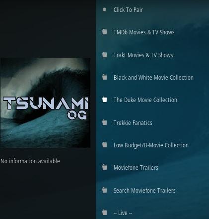 How To Install Tsunami OG Kodi Addon Overview