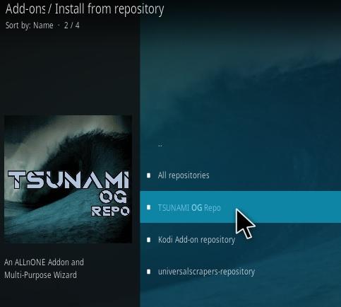 How To Install Tsunami OG Kodi Addon Step 15