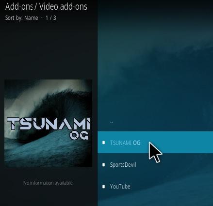 How To Install Tsunami OG Kodi Addon Step 17
