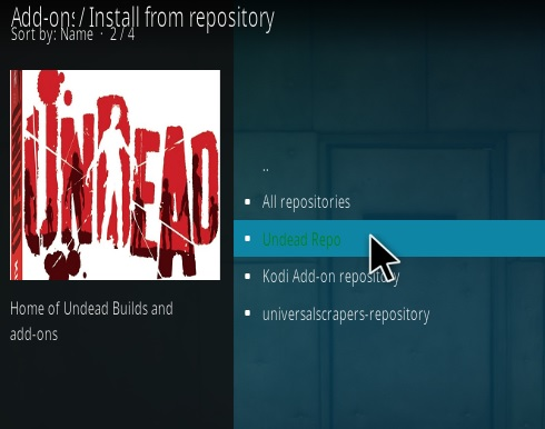 How To Install UNDEAD Kodi Addon Step 15