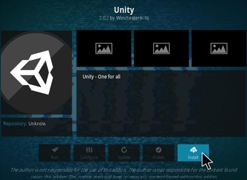 How To Install Unity Kodi Addon Step 18