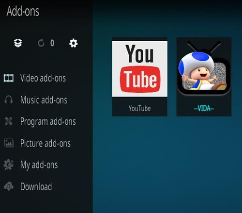 How To Install Vida Kodi Spanish Live TV Addon Step 14