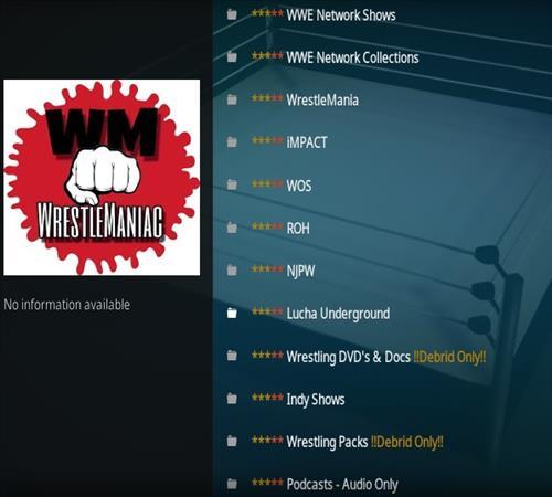 How To Install Wrestle Maniac Kodi Addon Overview