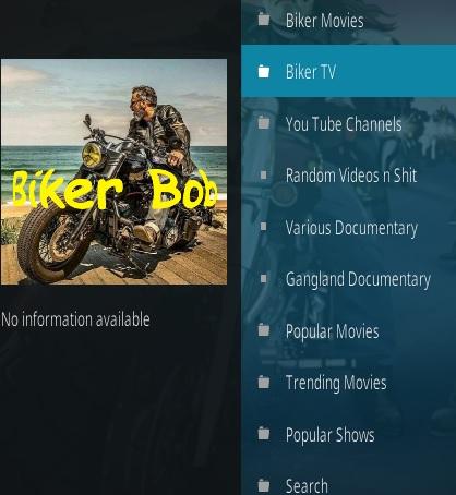 How To Install Biker Bob Kodi Addon Overview