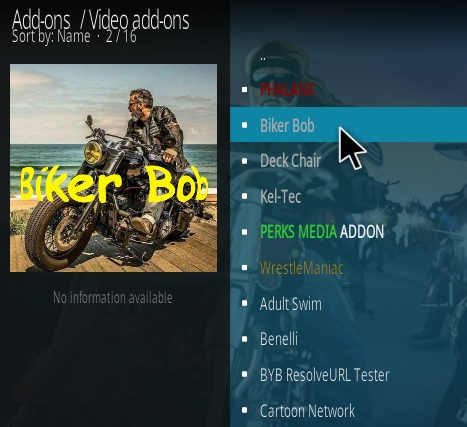 How To Install Biker Bob Kodi Addon Step 19