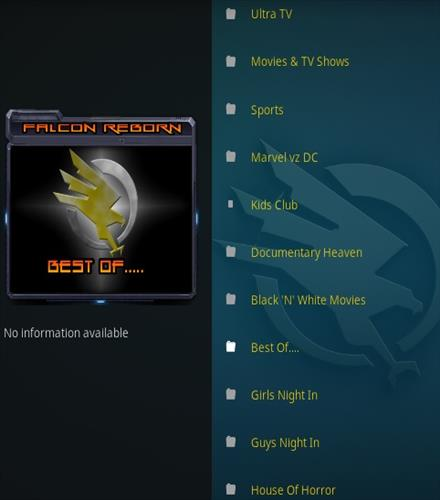 How To Install Falcon Reborn Kodi Addon Overrview