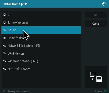 How To Install Fierce Gorilla Kodi Addon Step 11