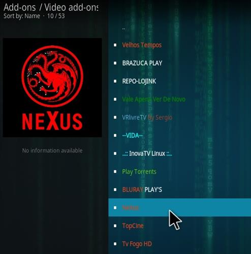 How To Install NeXus Kodi Addon Step 17