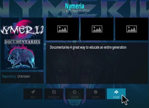 How To Install Nymeria Kodi Documentary Addon Step 18