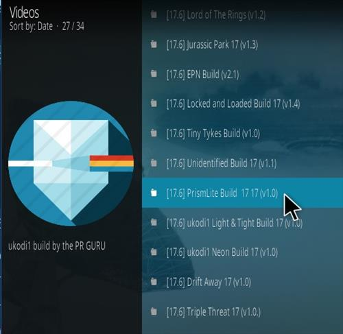 How To Install Prism Lite Kodi Build Step 24