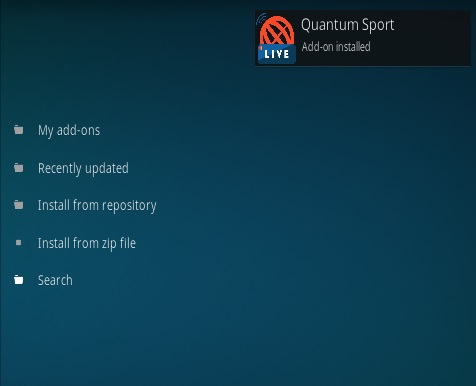 How To Install Quantum Sports Kodi Addon Step 14