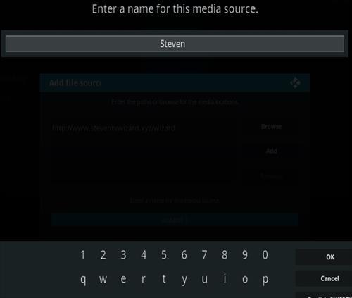 How To Install Steven TV Kodi Addon Step 6