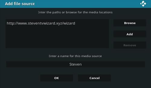 How To Install Steven TV Kodi Addon Step 7