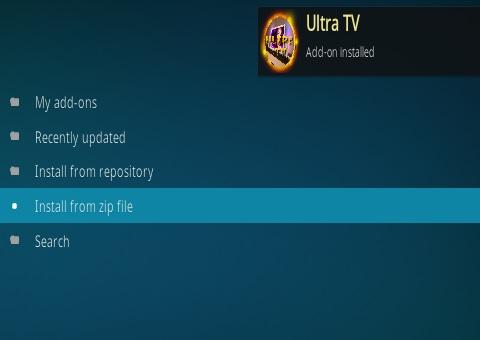 How To Install ULTRA TV Kodi Addon Step 13